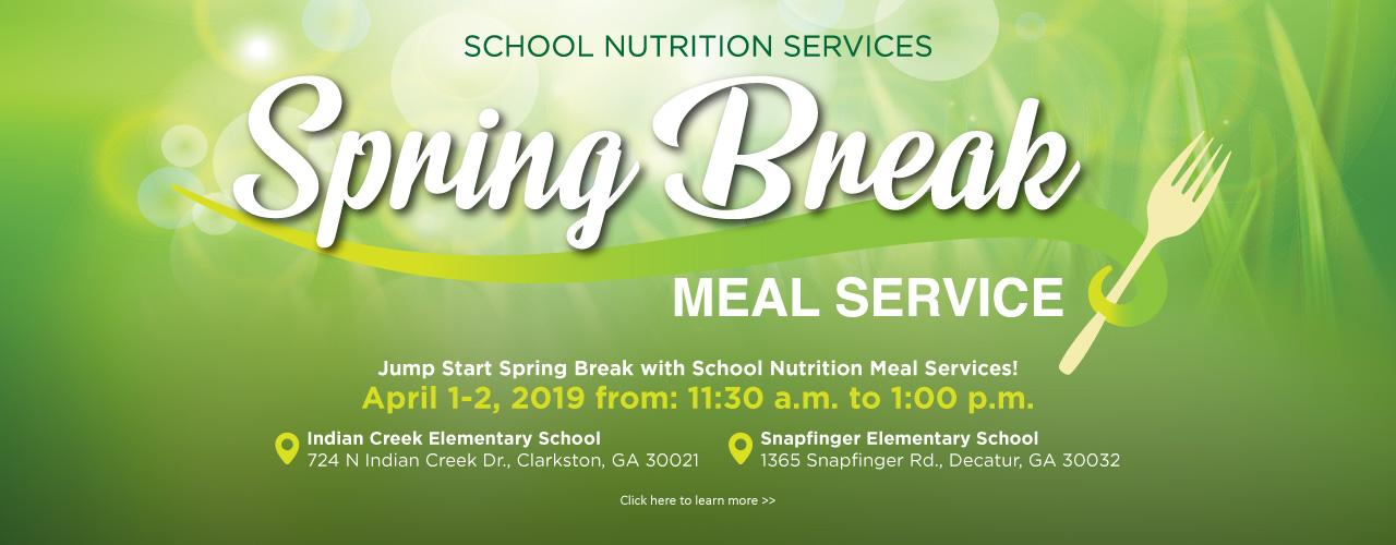 spring break meals 2019 web banner